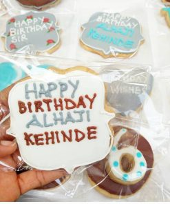 Birthday themed customized cookies
