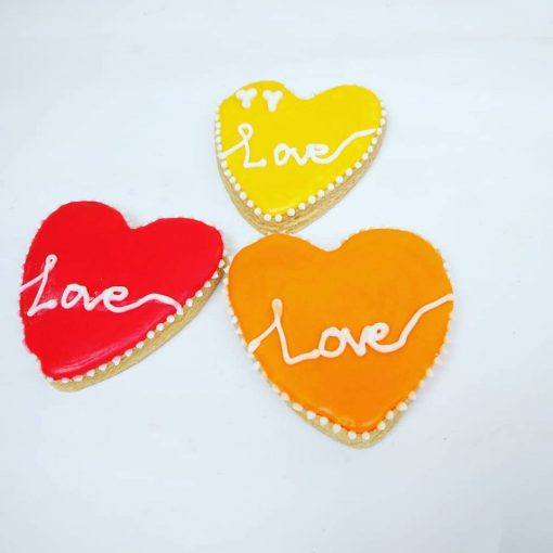 Love and romantic cookies