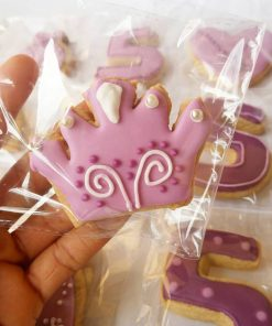 Tiara shaped cookies