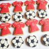 Football themed custom cookies